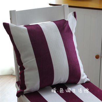 【協貿】現代簡約條紋超柔短毛絨休閒時尚抱枕含芯