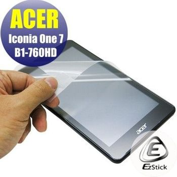 【EZstick】ACER Iconia One 7 B1-760 HD K9PW 專用 靜電式平板LCD液晶螢幕貼 (鏡面防汙螢幕貼)