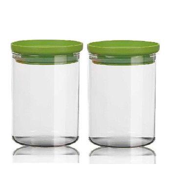 SYG刻度耐熱玻璃儲物罐800cc-二入組