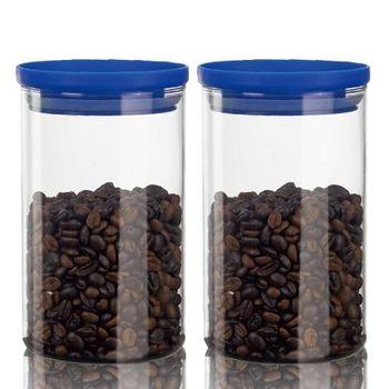 SYG刻度耐熱玻璃儲物罐1000cc-二入組