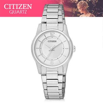 【CITIZEN 日系星辰】日系銀系列-小徑面不鏽鋼女錶(ER0180-54A)