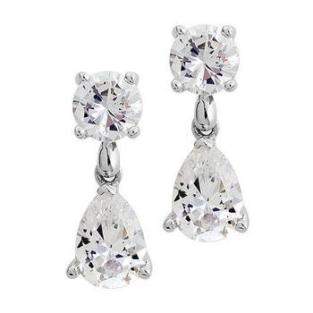 【Jewelrywood 】純銀古典鋯石耳環