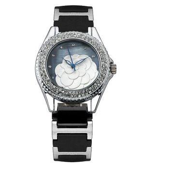 克萊米亞山茶花陶瓷腕錶