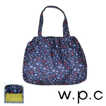 【w.p.c】時尚包包雨衣/束口防雨袋 (深藍星星)
