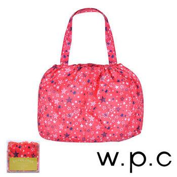 【w.p.c】時尚包包雨衣/束口防雨袋 (桃紅星星)