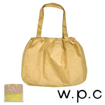【w.p.c】時尚包包雨衣/束口防雨袋 (卡其素面)