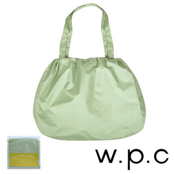 【w.p.c】時尚包包雨衣/束口防雨袋(淺綠素面)