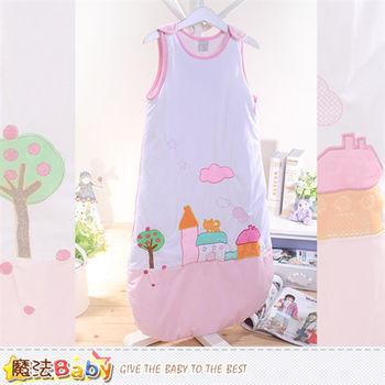 魔法Baby~嬰幼兒睡袋 柔舒雪絨加厚鋪棉極暖防踢睡袋 ~k35995
