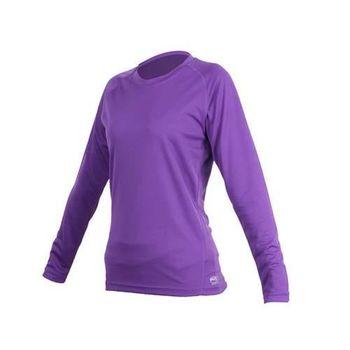 【MJ3】女素色長袖T恤-素T 長T 台灣製 紫  100%聚酯纖維