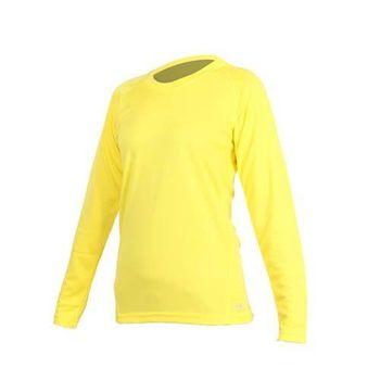 【MJ3】女素色長袖T恤-素T 長T 台灣製 亮黃  100%聚酯纖維
