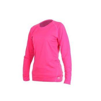 【MJ3】女素色長袖T恤-素T 長T 台灣製 桃紅  100%聚酯纖維