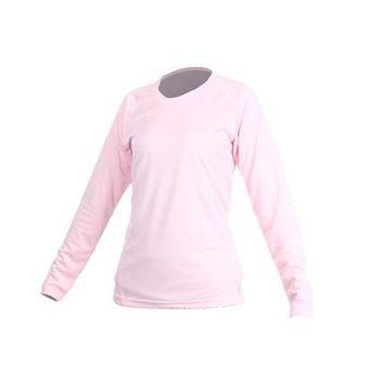 【MJ3】女素色長袖T恤-素T 長T 台灣製 淺粉   100%聚酯纖維