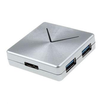 K-Line USB3.0 方形金屬感4 Port HUB(銀)