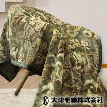 【日本大津】進口雙層毛毯(單人 溫莎-綠)
