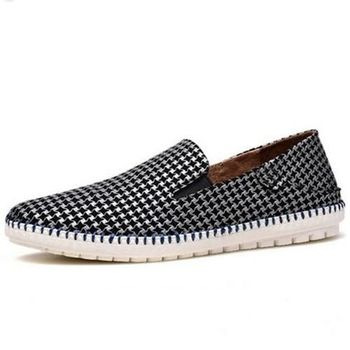【HaoxinG】款15DK7356銀白男士休閑鞋春夏真皮透氣懶人鞋韓版小羊皮鞋套腳潮鞋(JHS杰恆社)