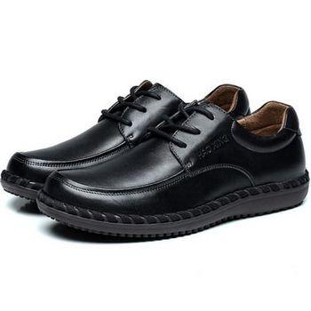 【HaoxinG】款D763541黑色秋季新款男士商務鞋商務休閑皮鞋英倫商務男鞋子(JHS杰恆社)