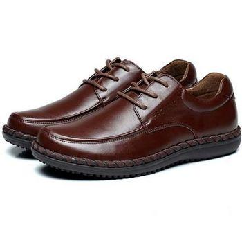 【HaoxinG】款D763541棕色秋季新款男士商務鞋商務休閑皮鞋英倫商務男鞋子(JHS杰恆社)
