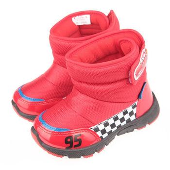 《布布童鞋》Disney迪士尼Cars汽車總動員閃電麥坤紅色保暖雪靴(15cm~20cm)ML5606A