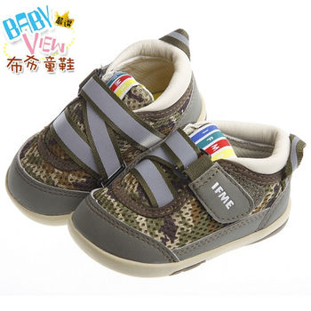 《布布童鞋》日本IFME迷彩軍綠活潑機能寶寶鞋(13~15cm)PBK056C