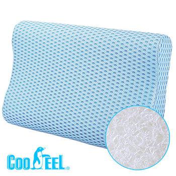 CooFeel 高效透氣可水洗3D纖維立體彈力枕(大)-藍色