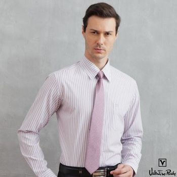 Valentino Rudy范倫鐵諾.路迪 長袖襯衫-粉黑直條