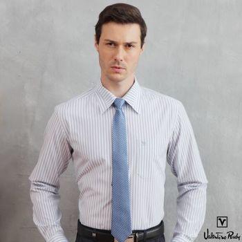Valentino Rudy范倫鐵諾.路迪 長袖襯衫-藍黑直條