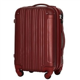 日本 LEGEND WALKER 5082-55-23吋 PC+ABS拉鍊輕量行李箱 酒紅