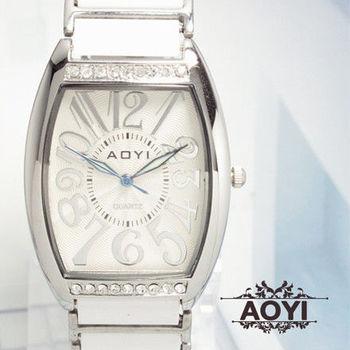 AOYI 晶鑽酒桶造型陶瓷腕錶