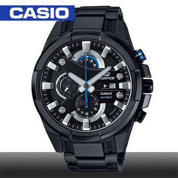 【CASIO 卡西歐 EDIFICE 系列】日系三眼多層次錶盤賽車錶(EFR-540BK)