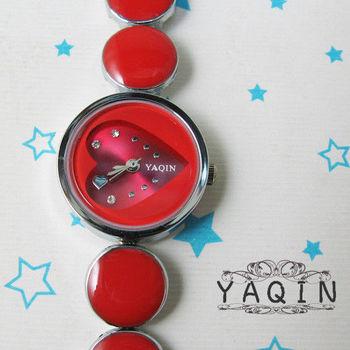 YAQIN亮彩愛心淑女鍊錶 手錶