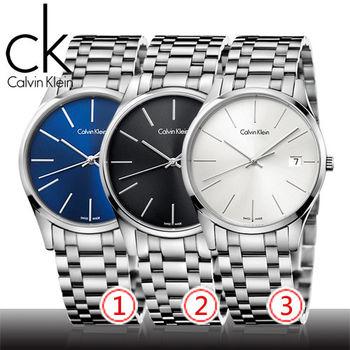 【瑞士 CK手錶 Calvin Klein】紳士錶(K4N21141_K4N21146_K4N2114N)