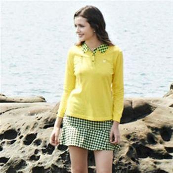 【LEIDOOE】女款長袖休閒POLO衫(53280)黃