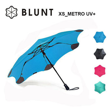 【紐西蘭BLUNT 保蘭特】抗強風防反傘完全抗UV美人傘(折傘XS_Metro UV+ 風格藍)