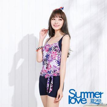 【夏之戀SUMMERLOVE】顯瘦款連身四角泳裝(E15708)
