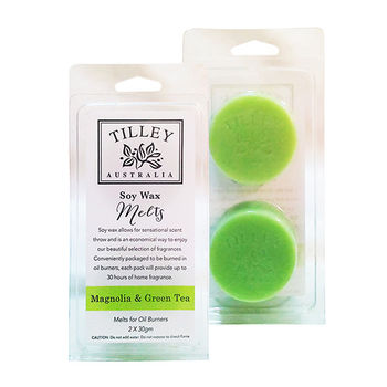 Tilley百年特莉 木蘭花綠茶香氛大豆蠟60g(圓形)