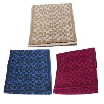 COACH 新款經典LOGO針織羊毛混紡圍巾(3色)
