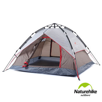 Naturehike 雙層雙門速開型自動帳篷 灰棕