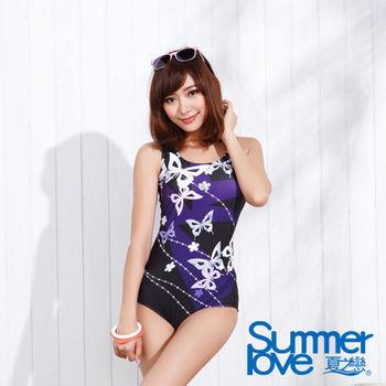 【夏之戀SUMMERLOVE】日系風格連身三角泳衣(E15735)