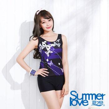 【夏之戀SUMMER LOVE】日系風格長版兩件式泳衣-(E15734)