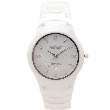 【OMAX】精密陶瓷圓形女錶(白色)