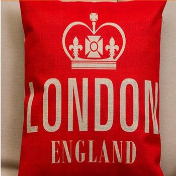【協貿】美式鄉村英倫風第六款簡約時尚棉麻抱枕含芯