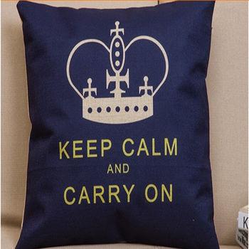 【協貿】美式鄉村英倫風第五款簡約時尚棉麻抱枕含芯
