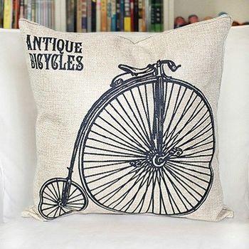 【協貿】美式鄉村懷舊復古自行車簡約時尚抱枕含芯