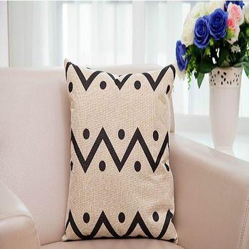【協貿】美式鄉村幾何風棉麻第四款簡約時尚抱枕含芯