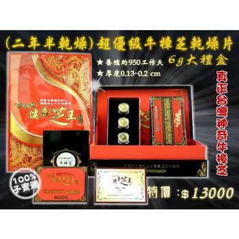 【百年永續健康芝王】牛樟芝/菇(二年半超優級乾燥片) 乾燥品 (6g 大禮盒)