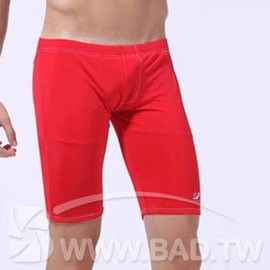 壞男BF《型男純色五分平角泳褲 》紅【S / M 】(內褲.三角褲.四角褲.丁字褲)