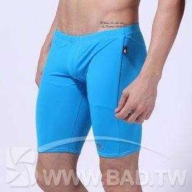 壞男BF《型男純色五分平角泳褲 》藍【S / M 】(內褲.三角褲.四角褲.丁字褲)