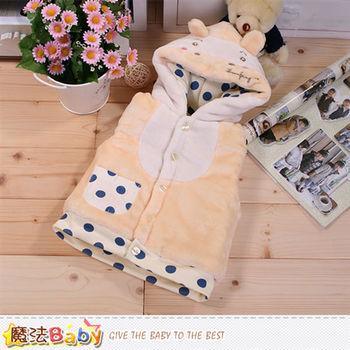 魔法Baby 嬰幼兒外套 專櫃款毛絨厚鋪棉連帽背心外套~k44805