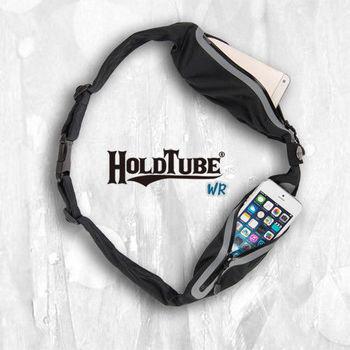 【HOLDTUBE】運動腰帶-防水雙口袋-黑灰