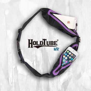 【HOLDTUBE】運動腰帶-防水雙口袋-黑紫